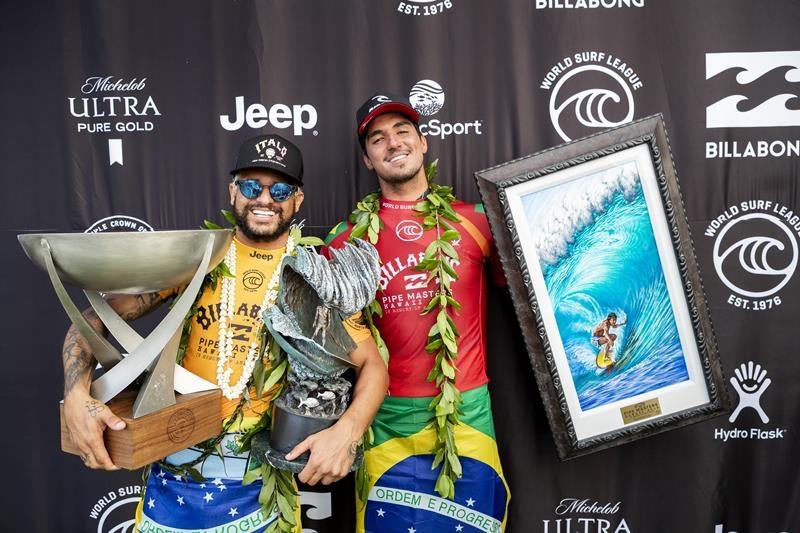 Italo Ferreira e Gabriel Medina, Billabong Pipe Masters 2019, Pipeline. Havaí. Foto: WSL