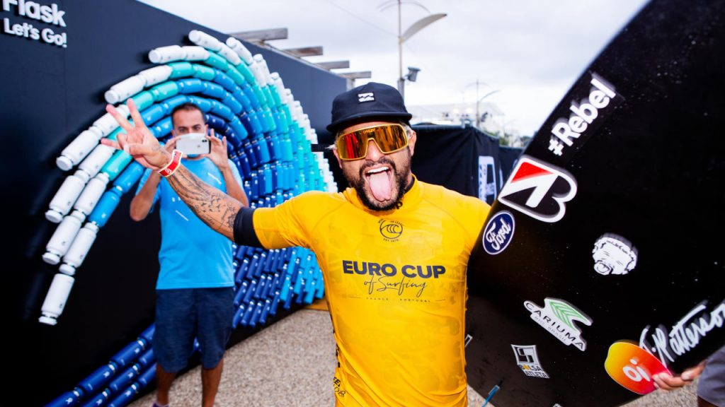Italo Ferreira, Euro Cup of Surfing 2020, Anglet, França. Foto: WSL
