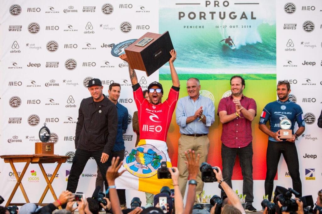 Italo Ferreira, Rip Curl Pro Portugal 2018, Supertubos, Peniche. Foto: WSL / Masurel