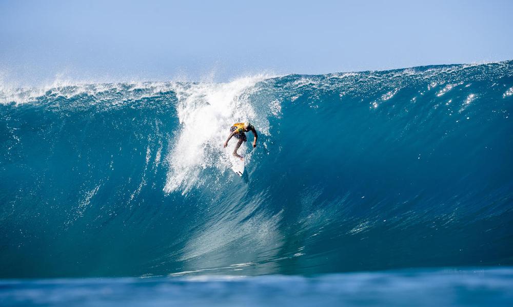 Também no Havaí, Italo Ferreira carimbou a classificação aos Jogos Olímpicos de Tóquio. Foto: WSL