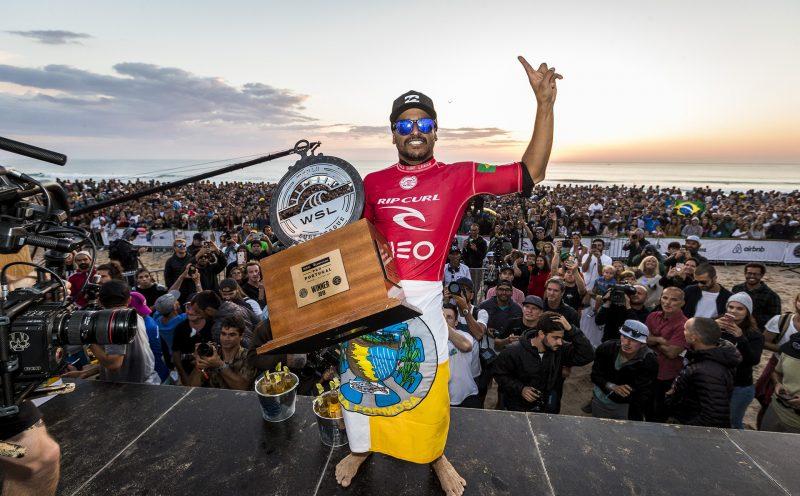 Italo Ferreira, Rip Curl Pro Portugal 2018, Supertubos, Peniche. Foto: WSL