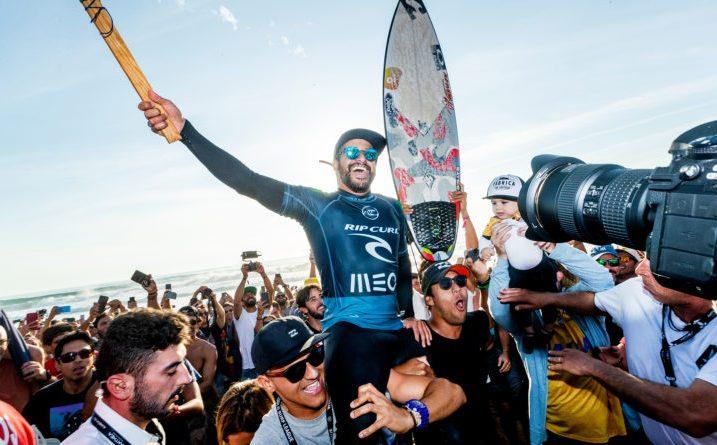 Italo Ferreira, Rip Curl Pro Portugal 2019, Supertubos, Peniche. Foto: WSL / Masurel