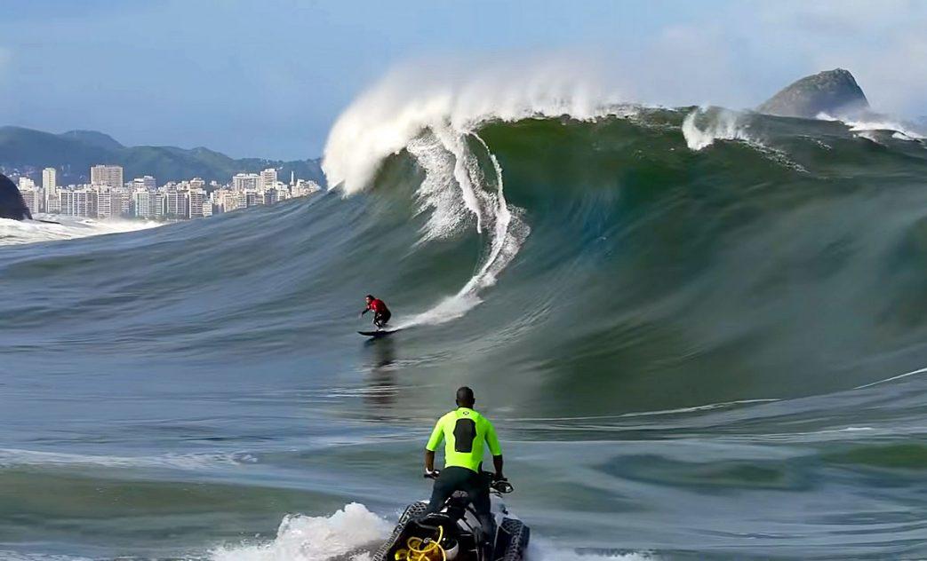 Swell na Laje da Besta, Big Waves, Baía de Guanabara, Rio de Janeiro (RJ). Foto: Henrique Pinguim