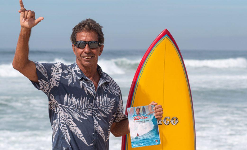 Rico de Souza, o embaixador do surfe. Foto: Vitor Faria
