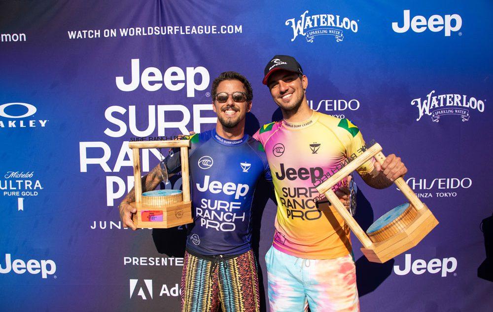 Filipe Toledo e Gabriel Medina, Surf Ranch Pro 2021, Lemoore, Califórnia (EUA), World Surf League, Circuito Mundial de Surf 2021, Kelly Slater Wave Pool. Foto: WSL / Heff
