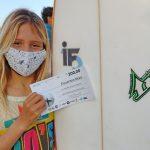 Carol Bastides, Surf Treino São Vicente, SV, Surf. Foto: Arquivo pessoal