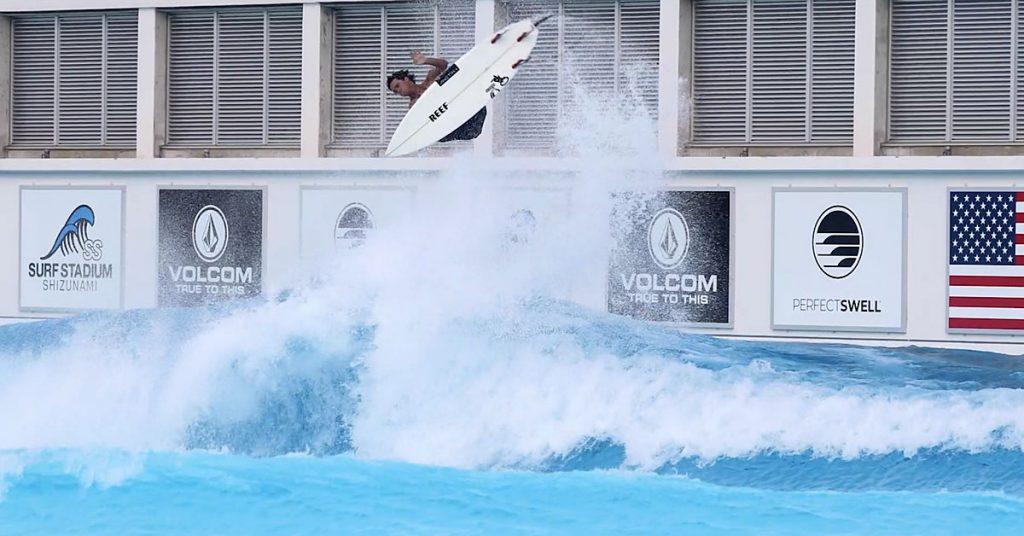 Evan Geiselman, Makinohara Shizunami, Japão, piscina de ondas, surfing pool, American Wave Machines. Foto: Divulgação