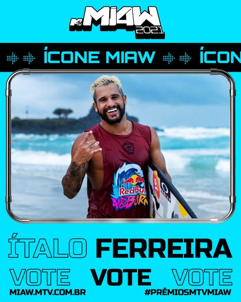 Italo Ferreira concorre ao prêmio MTV MIAW. Foto: Divulgação WSL