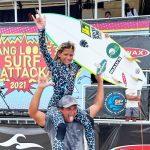 Carol Bastides, primeira etapa do Hang Loose Surf Attack 2021, Praia de Camburi, São Sebastião (SP). Foto: Juliana Teixeira